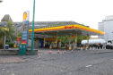 The Shell garage in Marketgait, where the incident took place