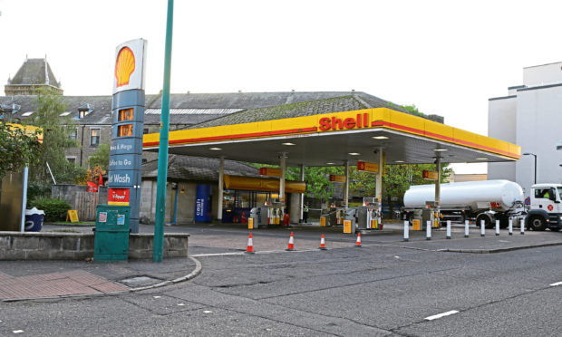 The Shell garage in West Marketgait. (Libarary image).