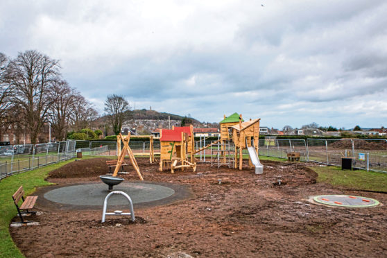 The £90,000 park, which is suitable for children with disabilities, is almost complete
