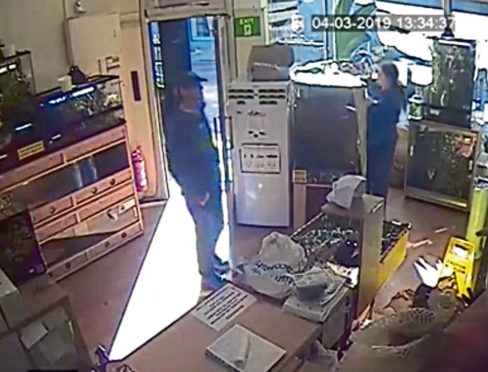 Christie's Critters CCTV shows the man in the store