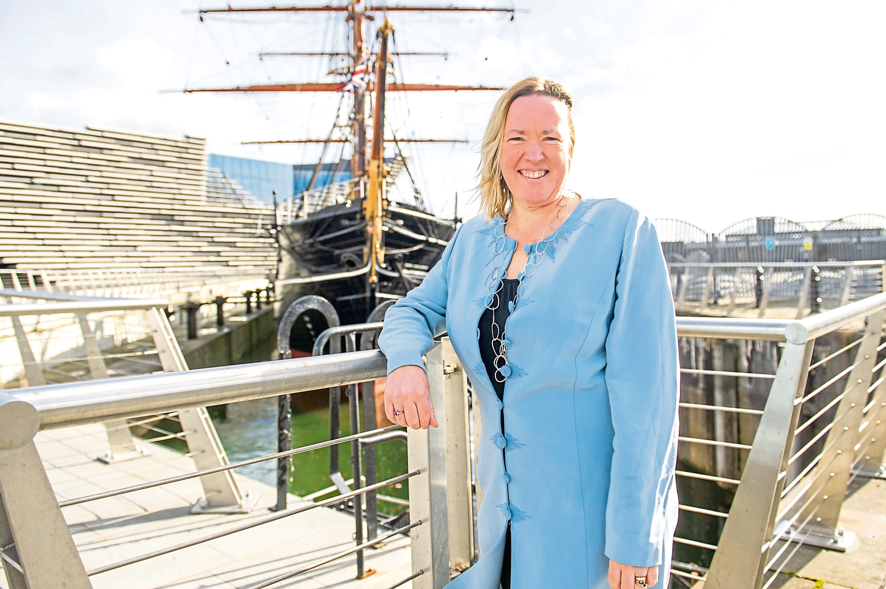 Deirdre Robertson, CEO of Dundee Heritage Trust, pictured at Discovery Point.