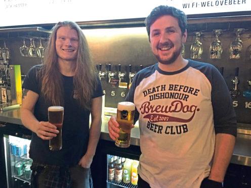 Peter Garrow, 27, and Sean Tyrell, 26, at Brewdog Dundee