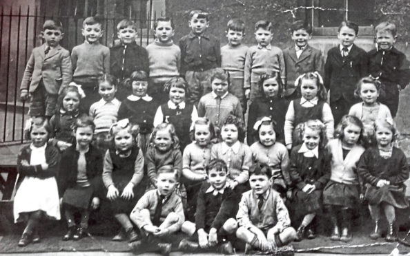 Primary 1 class at St Patrick's School, Dundee, in 1952