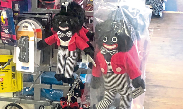 The golliwog dolls for sale in At Home in the Murraygate