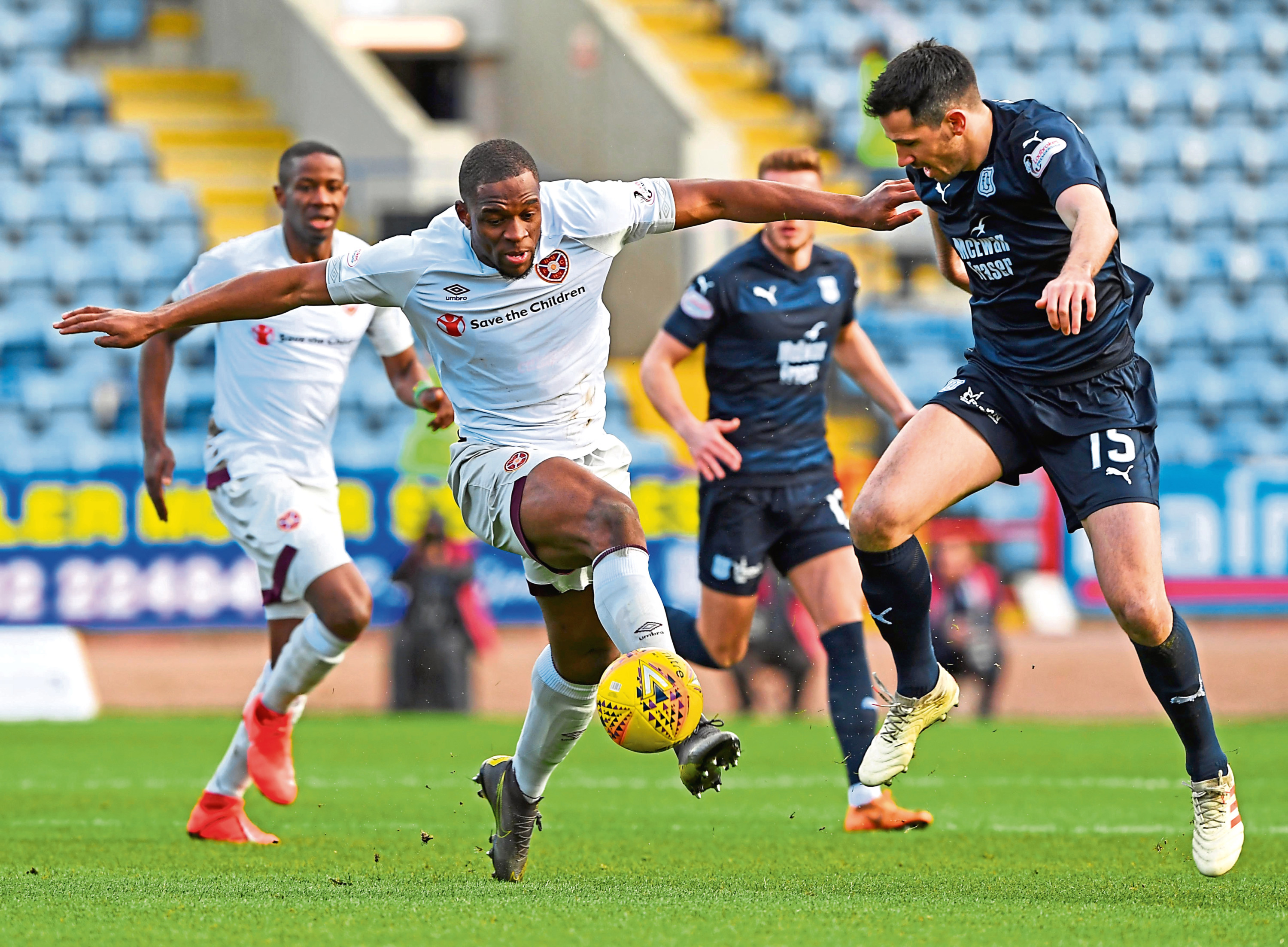 The Dundee defence will face a different threat from the one posed by Hearts striker Uche Ikpeazu.