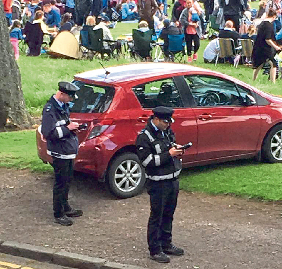 Parking attendants at the WestFest in Dundee