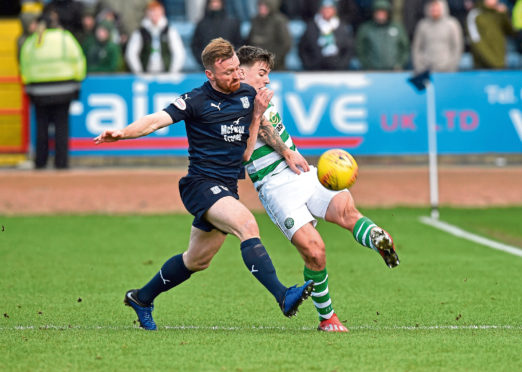 Dundee striker Craig Curran came off the bench in the 1-0 loss to Celtic.