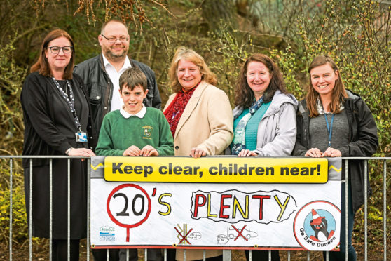 A banner at Barnhill Primary which is part of the campaign