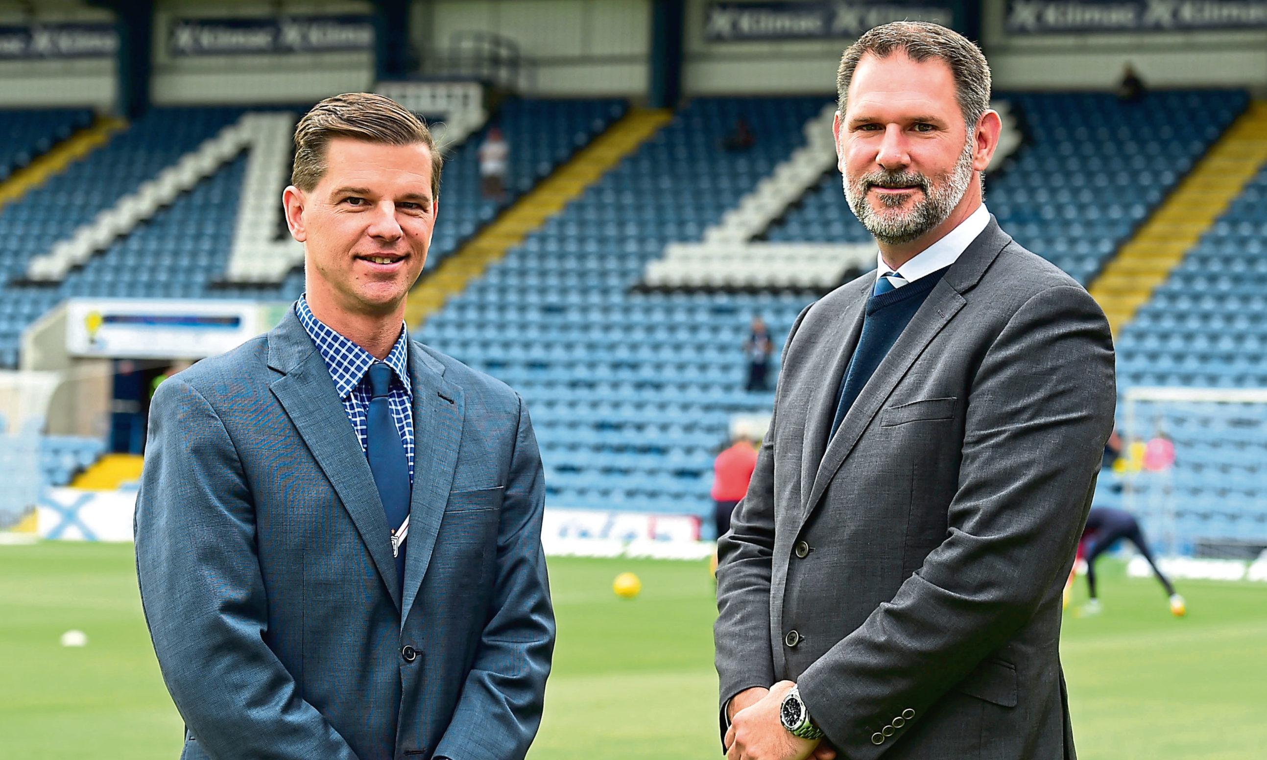 Tim Keyes (left) and John Nelms.