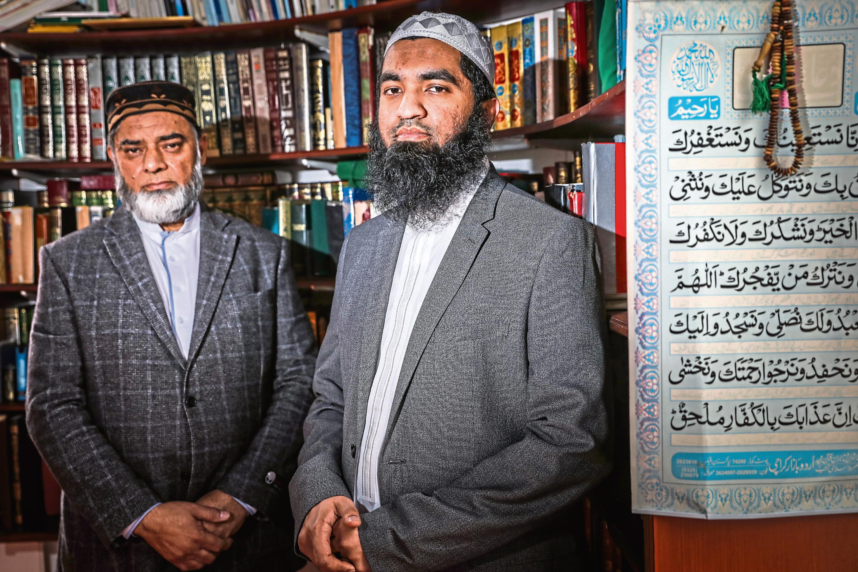 Bashir Chohan, left,, Dundee Islamic Leader with Imam Abdul Raof.