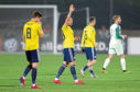 Scotland's Marc McNulty (centre) acknowledges the fans after the UEFA Euro 2020 Qualifying, Group I match at the San Marino Stadium, Serravalle.