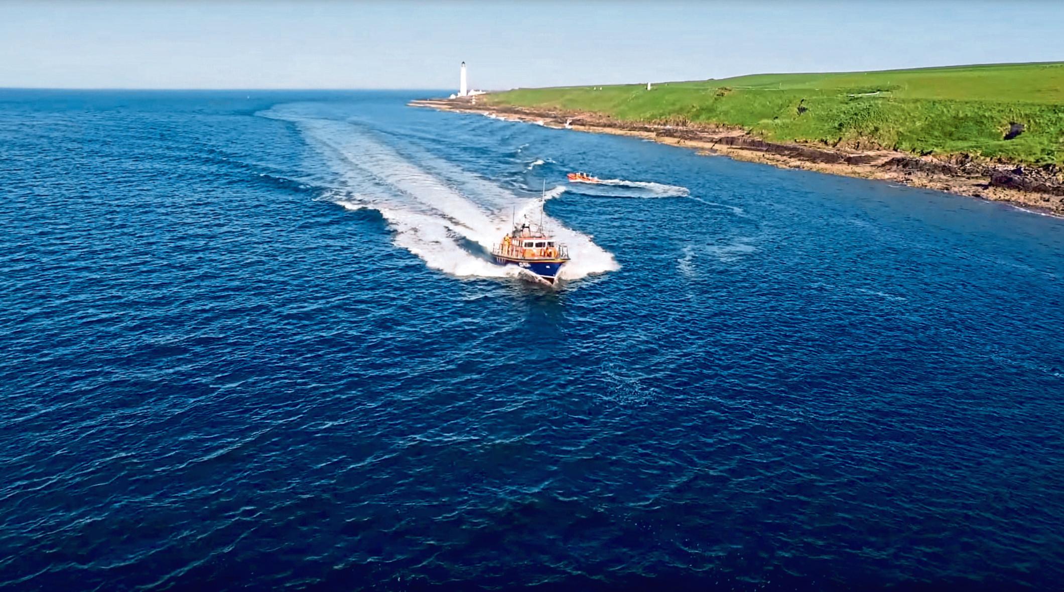 The Montrose Coastguard lifeboat.