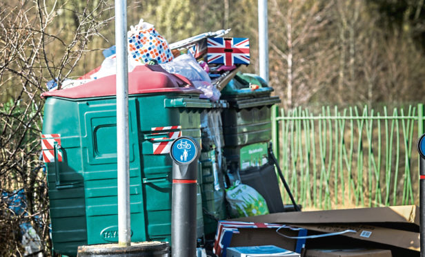 The Eurobins in Eriskay Drive have been described as an 'eyesore'.