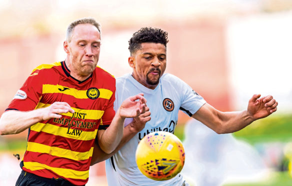 Swedish striker Osman Sow (right) has recovered from a niggling calf problem which has dogged his time at Dundee United so far.