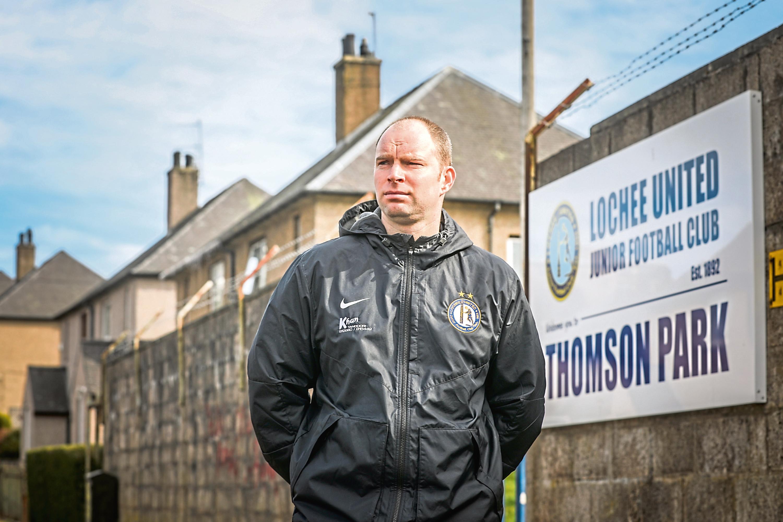 Club secretary Marc Stanton outside Thomson Park