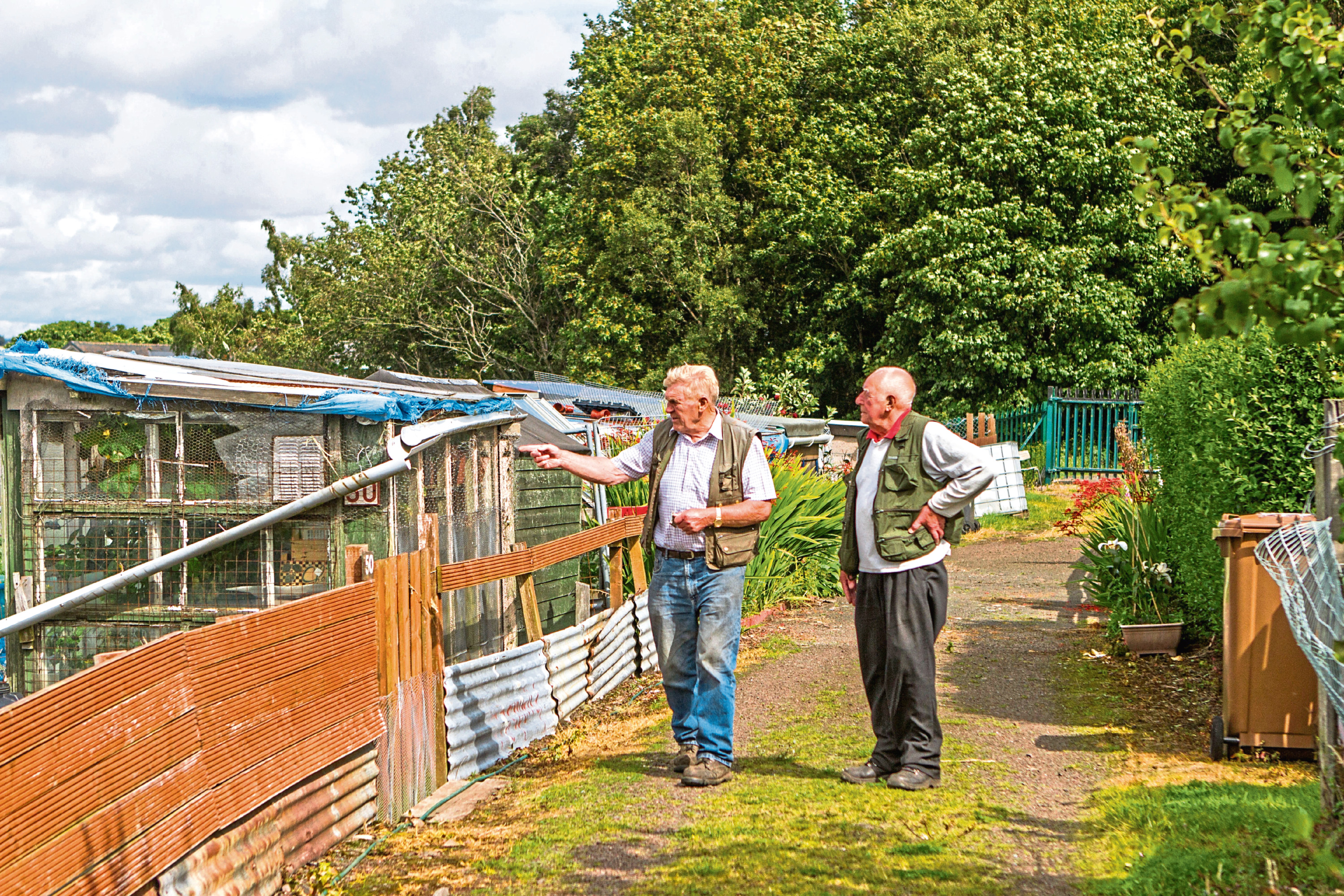 Don Elder (left) and Jim Lowden at the Westlaw Allotments back in 2017