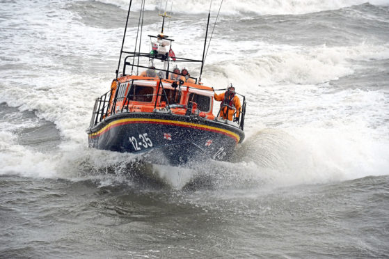 The RNLI Arbroath lifeboat.