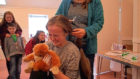 Ailsa Templeton gets her hair cut