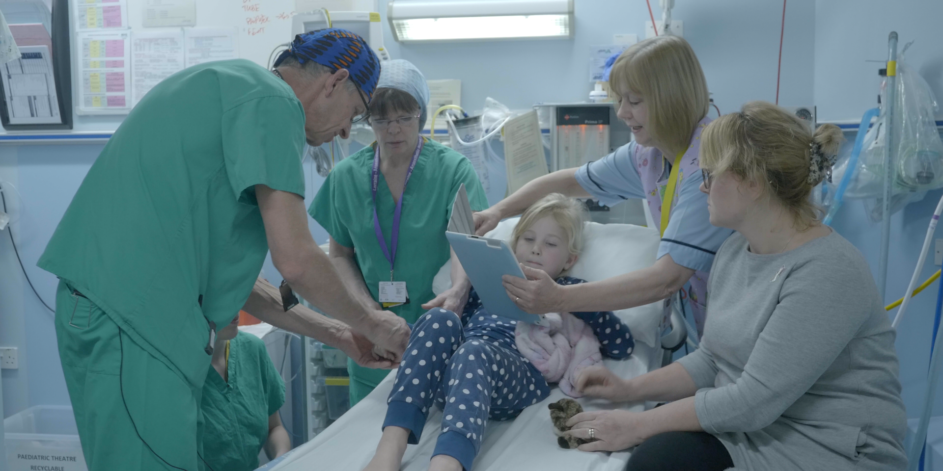 A patient at Tayside Children's Hospital