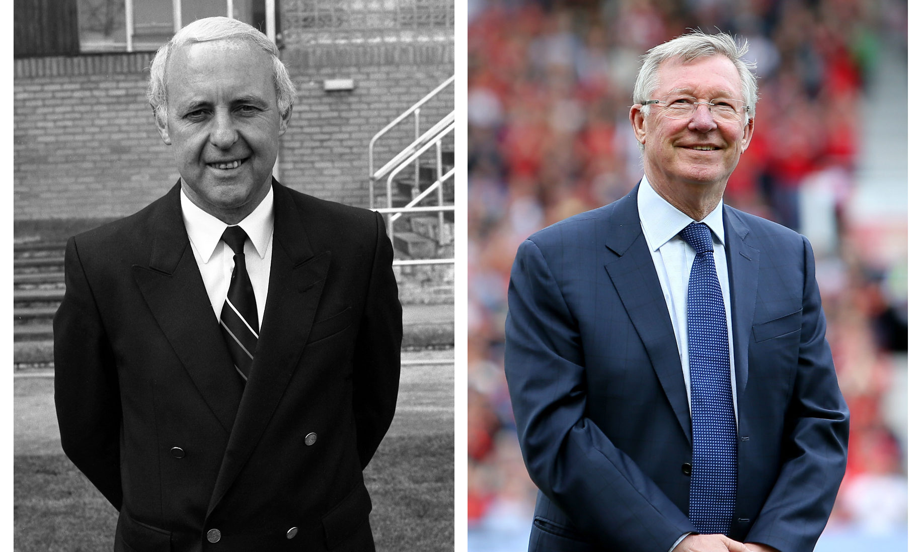 Jim McLean, left, and Alex Ferguson, who were rival managers of the 'New Firm' during the 1980s.
