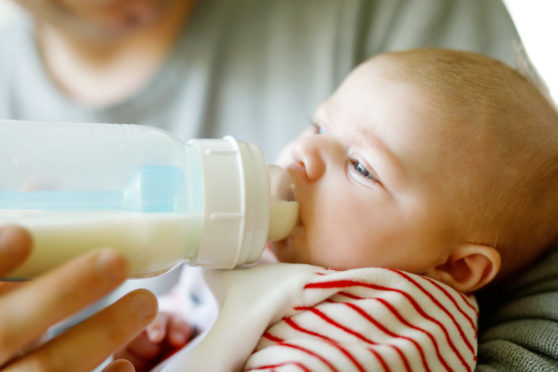 Breast milk has been advertised for sale in areas including Dundee and Fife