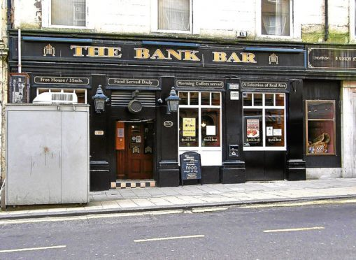 The Bank Bar in Union Street, Dundee