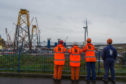 Workers at the BiFab yard in Methil