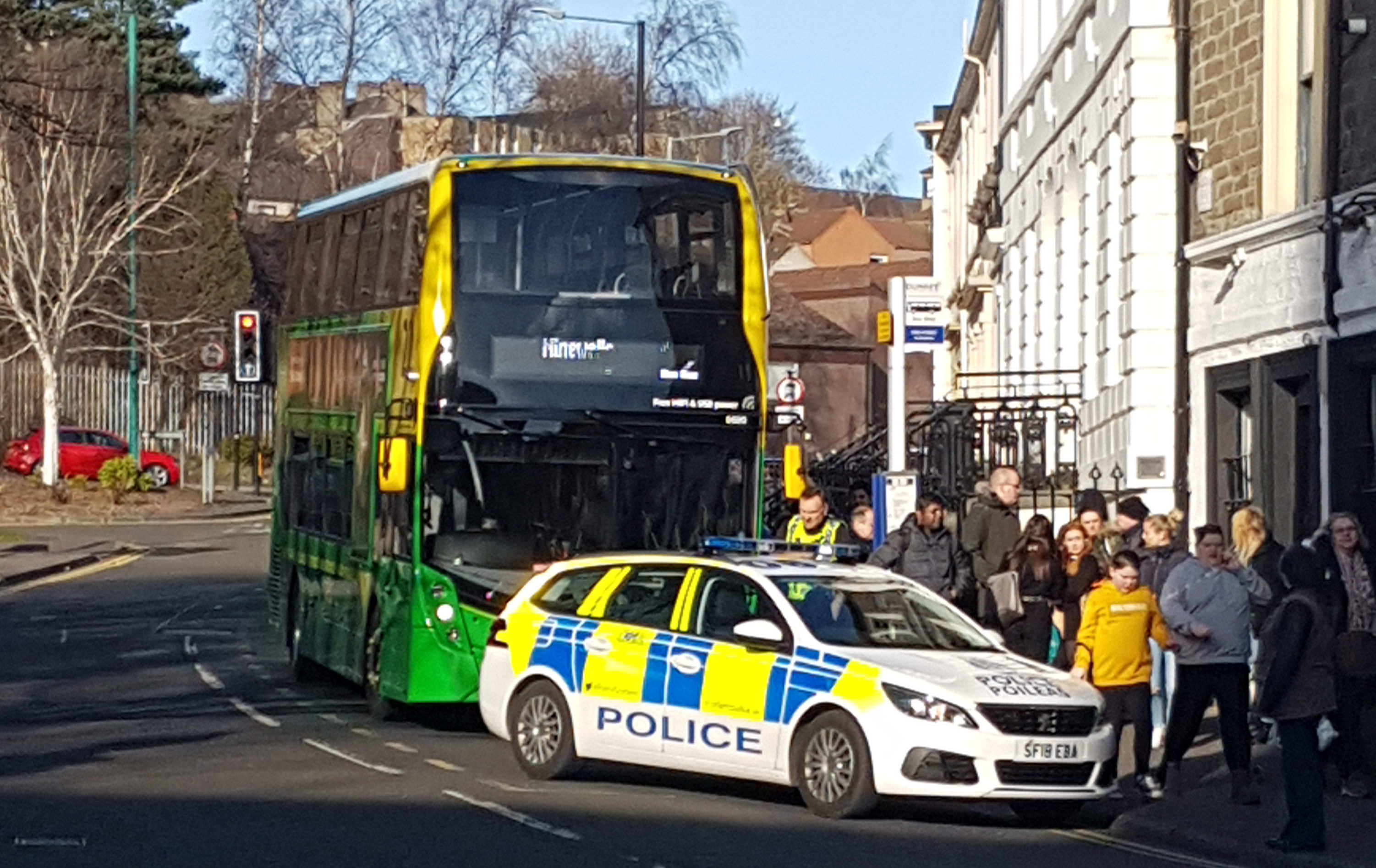 A 22 bus was evacuated in King Street, Dundee