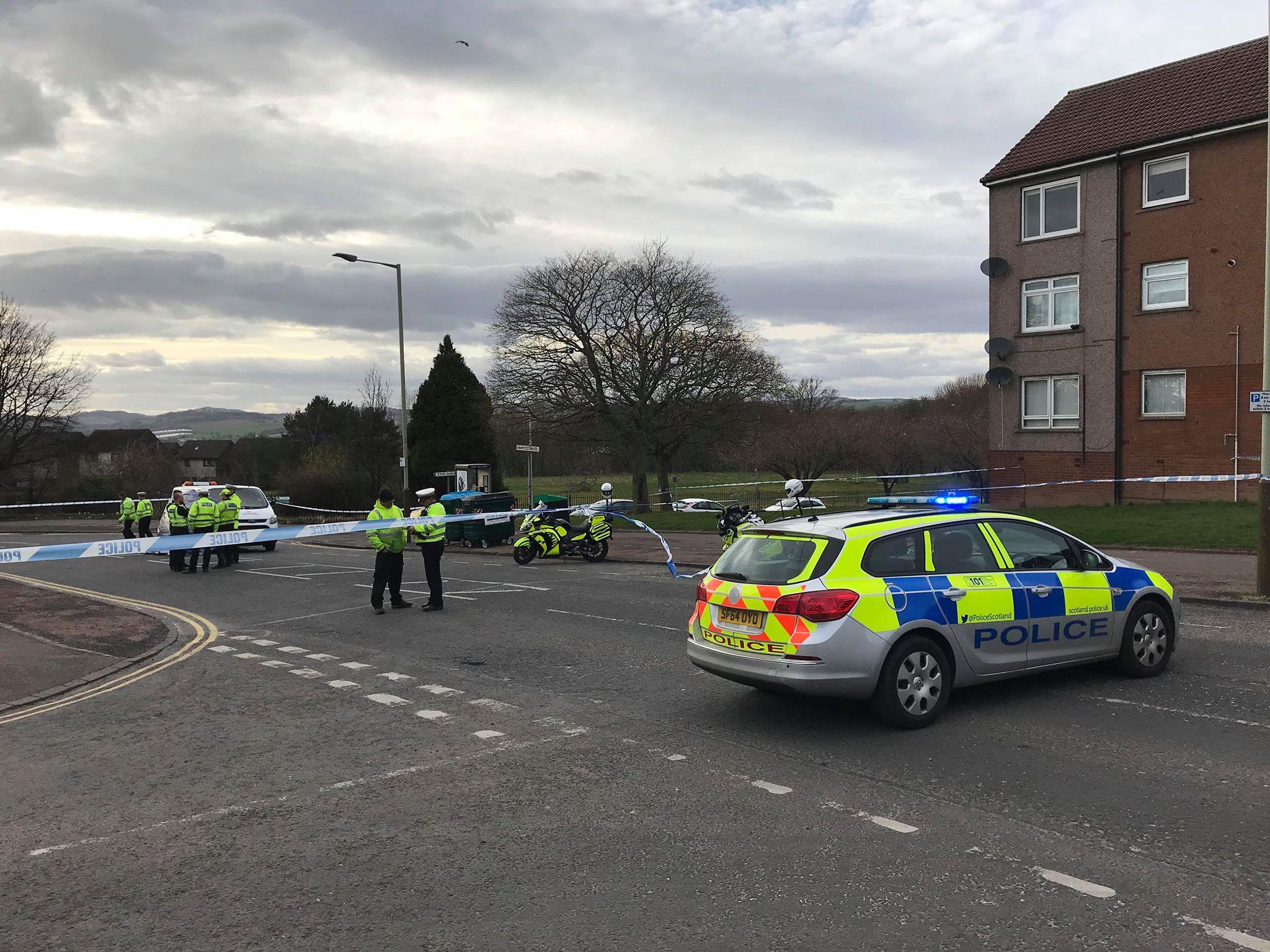 Police on the scene
