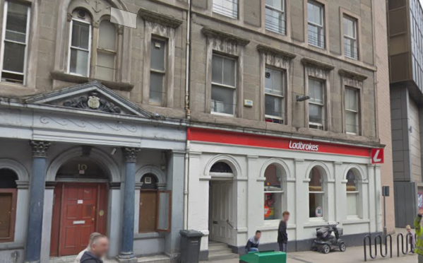 The Ladbrokes bookies in Panmure Street, where the wallet is alleged to have been stolen from.
