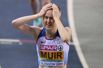 Laura Muir wins gold in Glasgow in the 1,500m