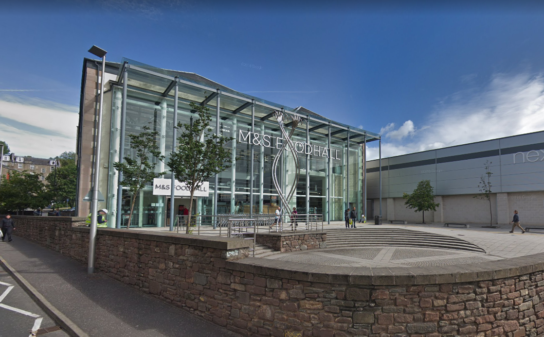 He is accused of having the weapon in the M&S store in the Gallagher Retail Park