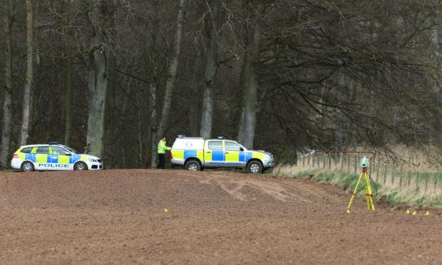 Police on the Rossie Estate.