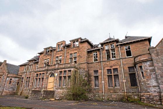 The old Strathmartine Hospital.