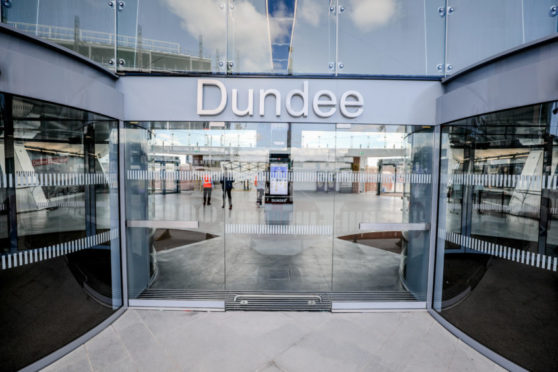 Paramedics boarded the train at Dundee Railway Station