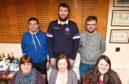 Back, from left, Neil Gray, Shaun Kinnear, Jack Ewan. Front, from left, Catriona Prodger, Jill Murdoch, Jamie Prodger