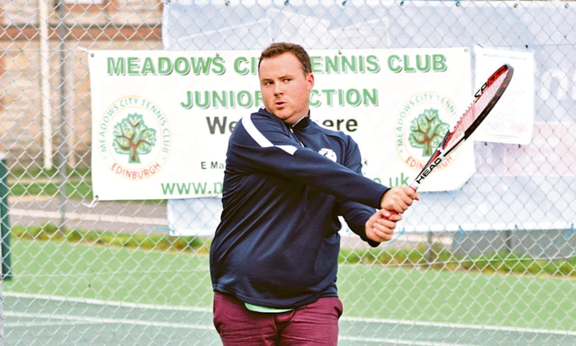 Dundee tennis coach Ross Taylor