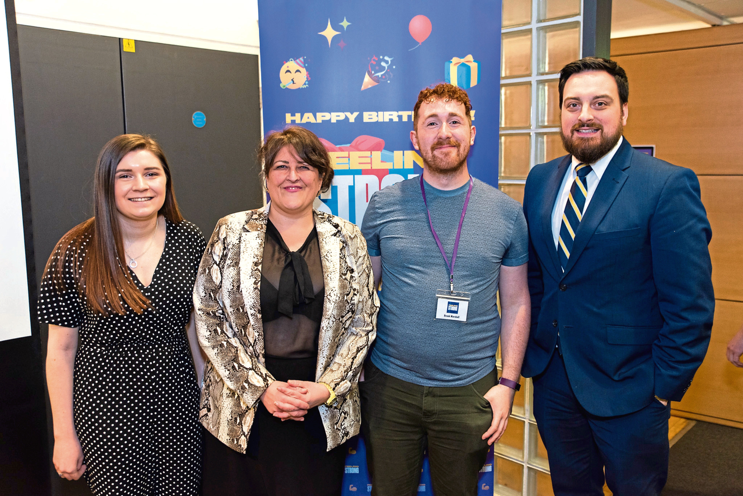 Picture shows some of the party goers (from left) co-chair Abbie Wilson, Councillor Lynne Short, Mr Marshall and trustee Alan Duff