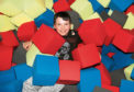 Aiden Taylor, 10, enjoying the soft fun pit at Ryze.