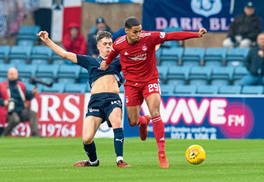 Youngster Callum Moore made his first Dundee start in Saturday's 2-0 loss to Aberdeen at Dens Park.