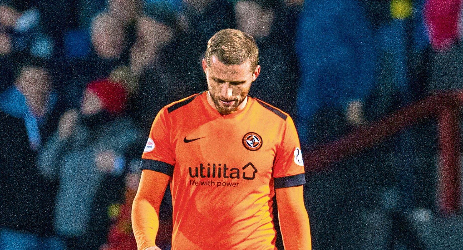 Pavol Safranko cuts a dejected figure after his goal wasn't enough to give Dundee United victory at Ross County last week.