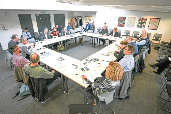 The Dundee Drugs Commission during a previous meeting last year.