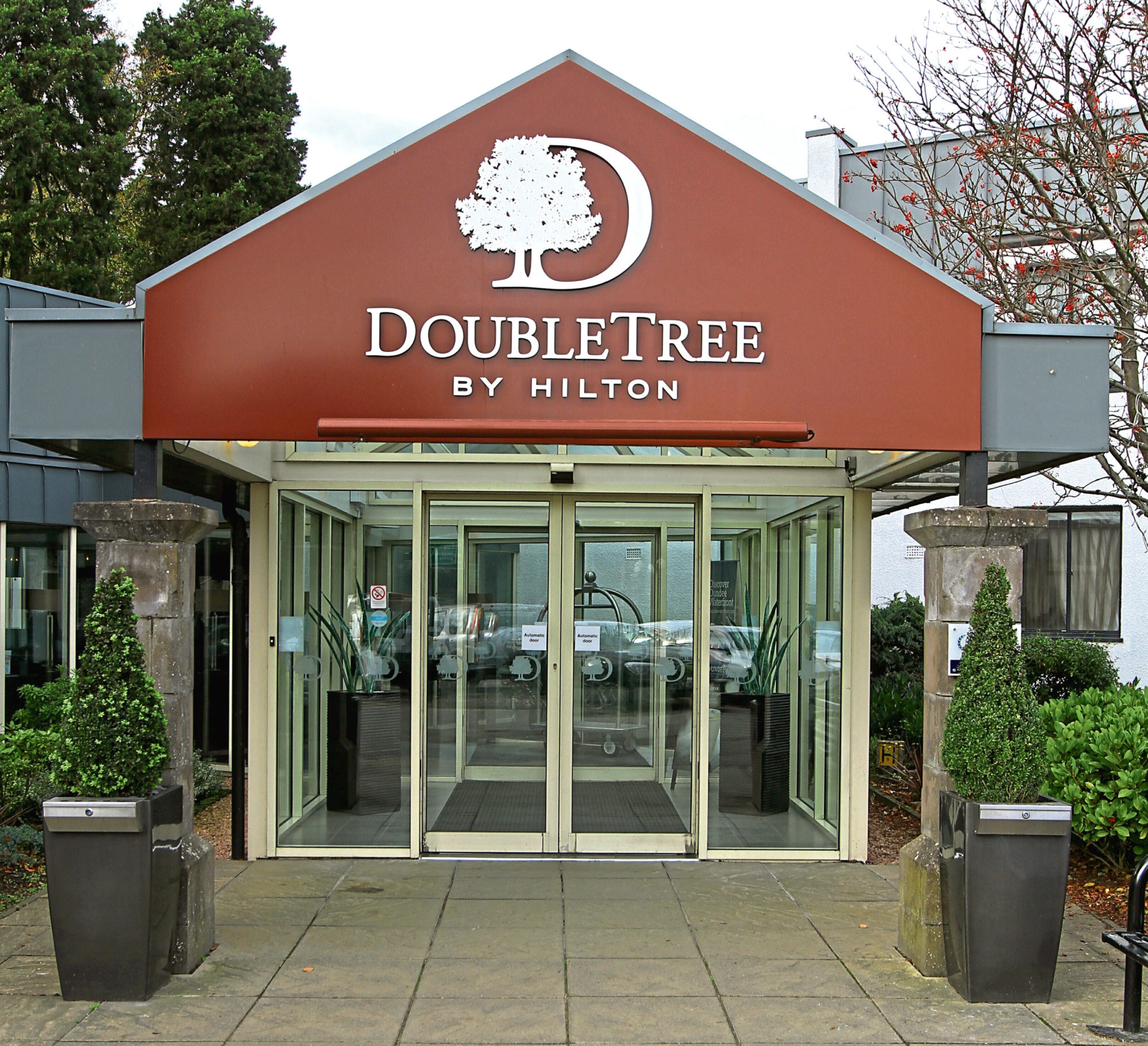DoubleTree by Hilton on the Kingsway, Dundee, where the incident is alleged to have happened.