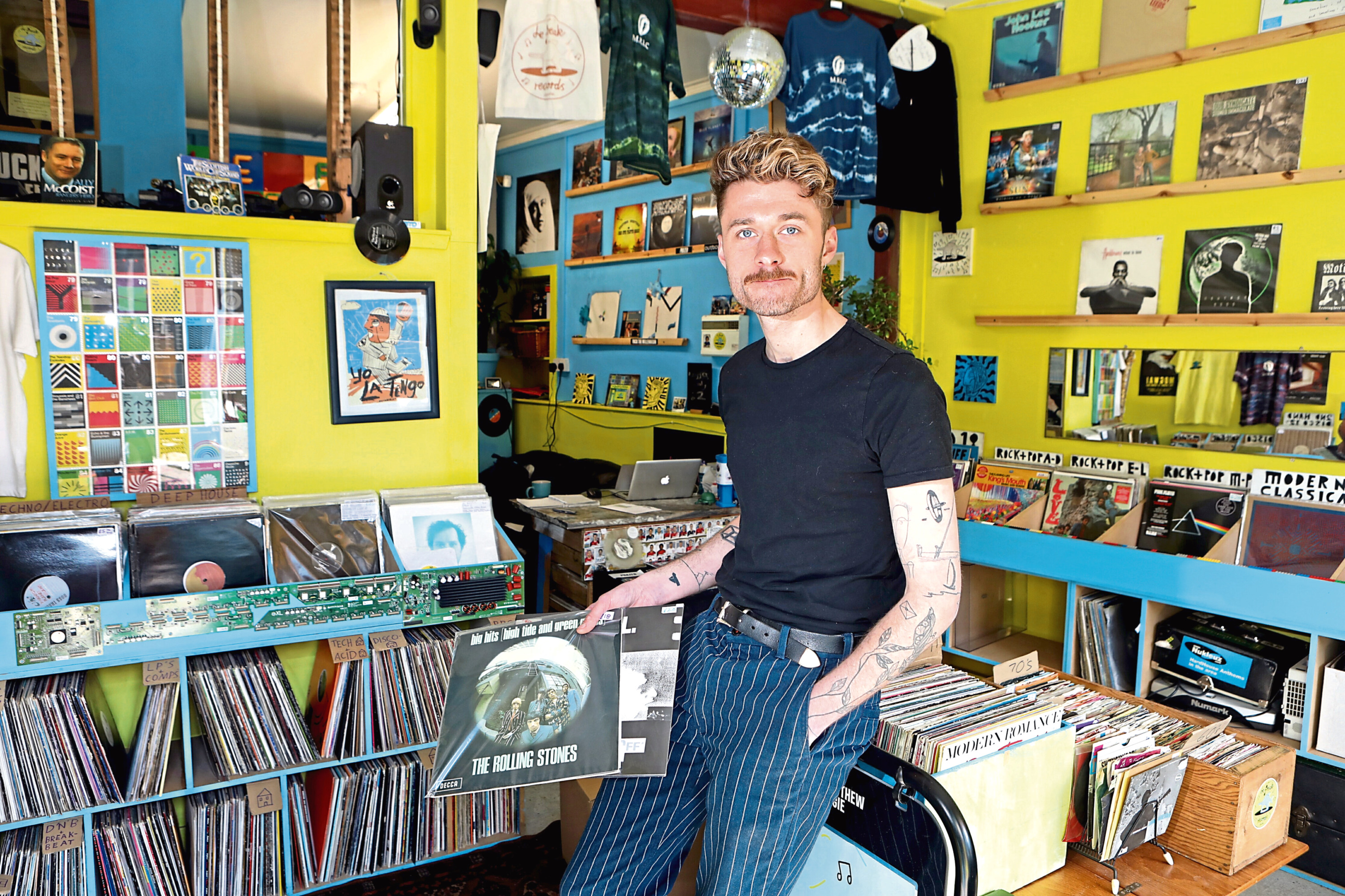 Jack LeFeuvre of Le Freak Records in Perth road Dundee