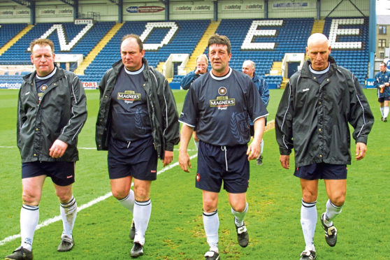 Brian Scrimgeour, second from left.