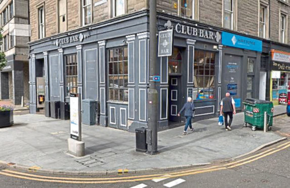 The Club Bar in Dundee's Union Street.