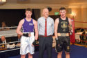 From left, Ethan Tole (Kincorth ABC), Alan McDonald (Stephen Gardiner Construction) and Tommy Dow (Perth Railway ABC).