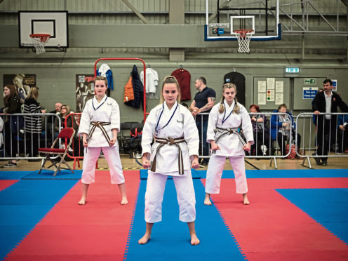 Three of the karate kids.