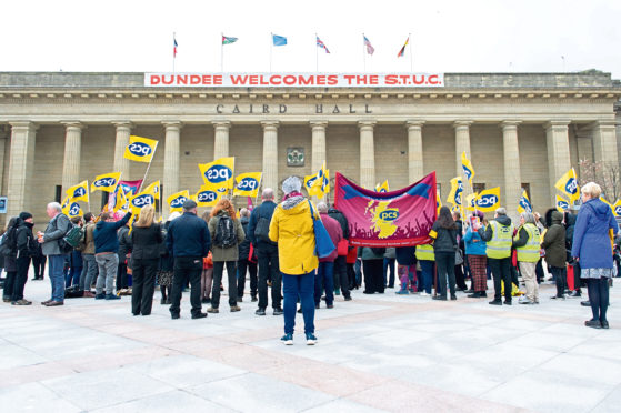 The STUC annual congress took place at the Caird Hall