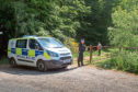 Police at the Kinnordy Estate near Kirriemuir